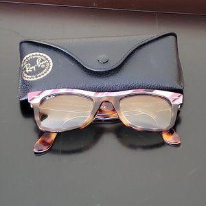 Ray-Ban Sunglasses Wayfarer II Striped Pink Brown